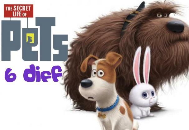 Secret Life of Pets 6 Diff