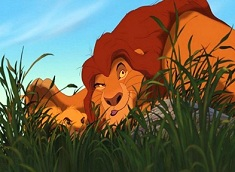 Simba and Mufasa Hunting Puzzle