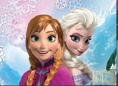 Sisters  Anna and Elsa Puzzle
