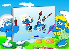 PAINT THE SMURFS - SMURFS GAMES