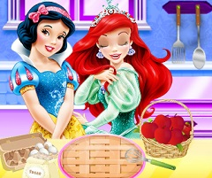 Snow White and Ariel Apple Dessert