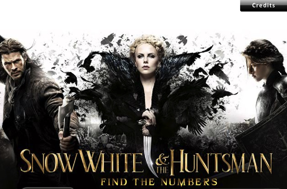 Snow White and the Huntsman Hidden Numbers