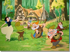 Snow White Dancing with Dwarfs Puzzle
