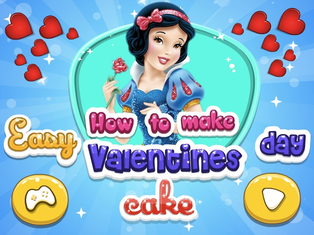 Snow White Valentines Cake