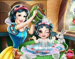 Snow White Washing Baby