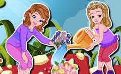 Sofia and Amber Gardening