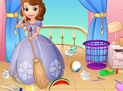Sofia the First Cleaning Castle