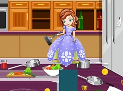 Sofia the First Cleaning Kitchen