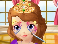 Sofia the First Face Painting
