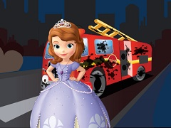 Sofia the First Fireman Truck Wash
