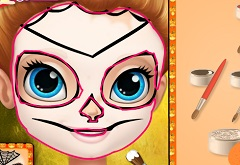 Sofia the First Halloween Face Art