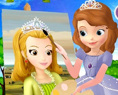Sofia the First Painting