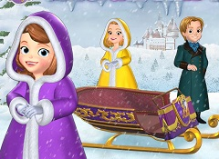Sofia the First Sledge Race