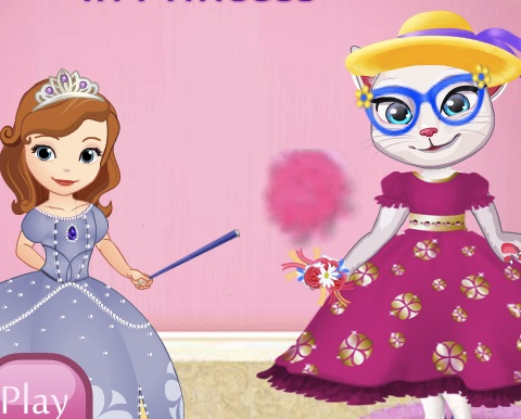 Sofia Transforming Angela in a Princess