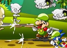 Sonic and Mario vs Zombie