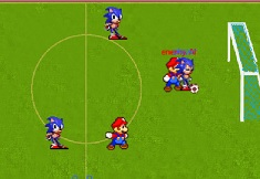 Sonic vs Mario Football