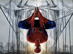 Spiderman Hanging from Web Puzzle
