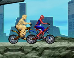 Spiderman vs Sandman Race