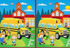 Spot The Difference School Bus