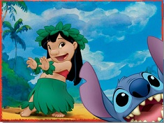 Stitch and Lilo Dancing Puzzle