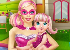 Super Barbie Baby Playing