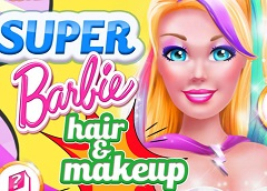 Super Barbie Hair and Makeover