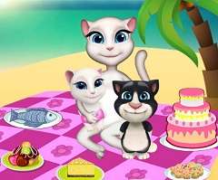 Talking Angela an Kids and Picnic