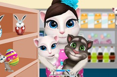Talking Angela and Kids at Shopping