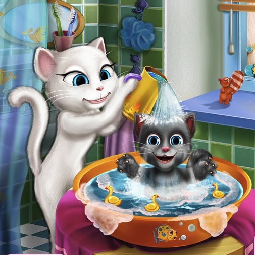 Talking Angela Baby Wash