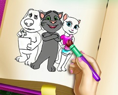 Talking Angela Coloring Book