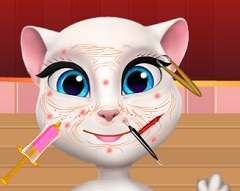 Talking Angela  Face Treatment