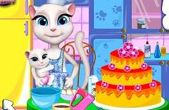Talking Angela Making Cake