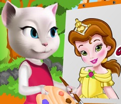 Talking Angela Painting Baby Belle