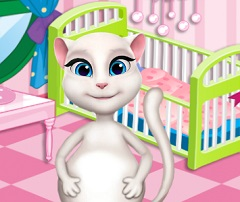 Talking Angela Pregnant Baby Room