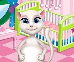 لعبة ولادة القطة انجيلا