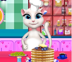 Talking Angela Pregnant Pancakes