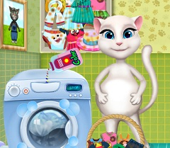 Talking Angela Pregnant Washing Clothes