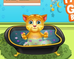 Talking Ginger Baby Bath