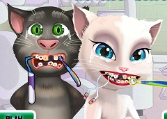 Talking Tom and Angela Dentist