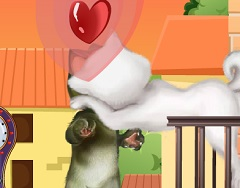Talking Tom and Angela Kissing