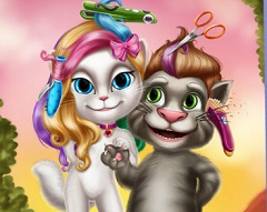Talking Tom and Angela Real Haistyle