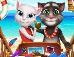 Talking Tom and Angela Summer Luggage