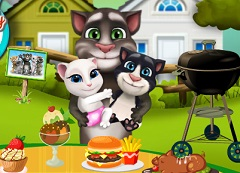 Talking Tom Family Sunday Cooking
