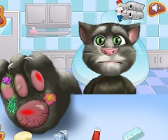 Talking Tom Foot Injury