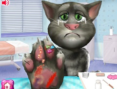 Talking Tom Hand Injury
