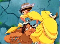 Tarzan and Jane Funny Puzzle