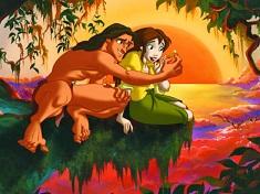 Tarzan and Jane Romantic Puzzle