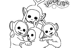 Teletubbies Coloring Game
