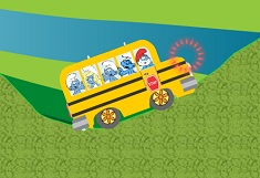 The Smurfs and the School Bus