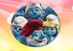 The Smurfs Round Puzzle